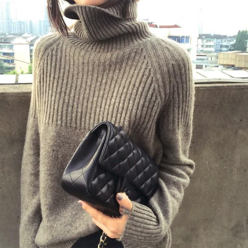 2020 Autumn And Winter Cashmere Sweater Women'S Turtleneck Loose Pullover Large Size Lazy Wind Sweater From Goddard, $45.74 | DHgate.Com