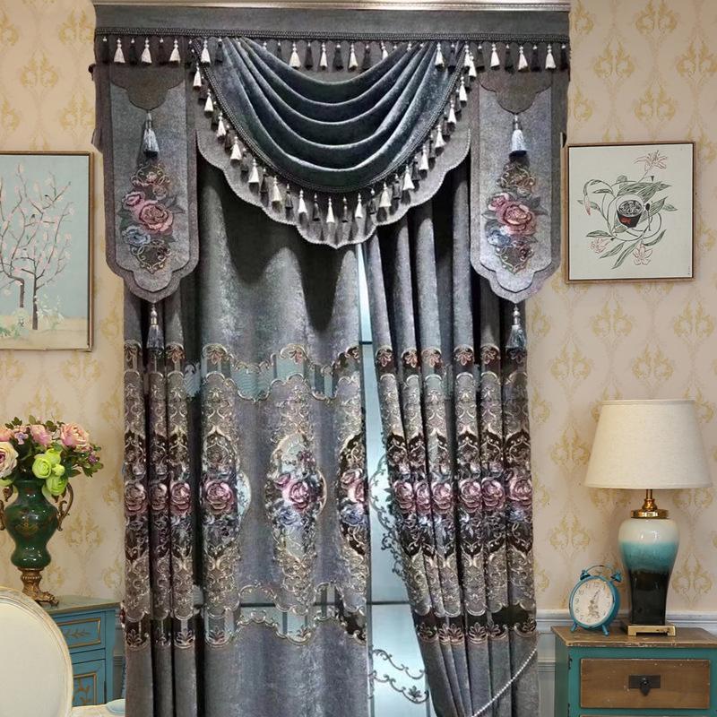 Tende europee per gli stili della finestra tende per il salone eleganti tende europea ricamato