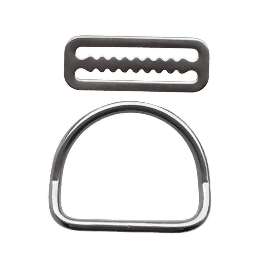 Stainless Steel Scuba Diving Weight Belt Keeper Retainer Fits 5cm Webbing