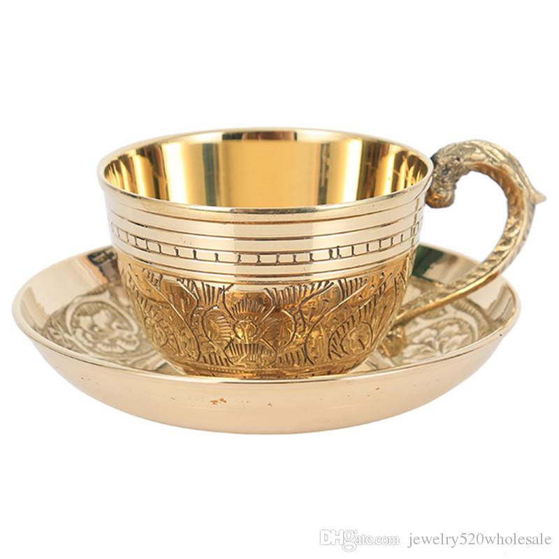 Arabic Copper Tea Cup With Pad India Coffee Cups Saucer ...
