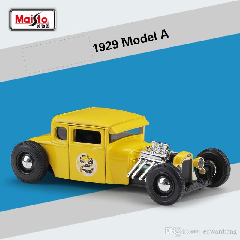 Maisto Alloy Car Model Toy, 1929 Ford Model A, Retro Classic Car, High Simulation for Party Kid' Birthday' Gift, Collecting, Home Decoration