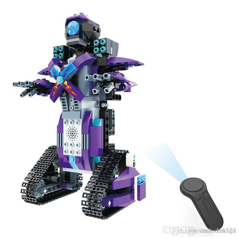 New products hot sale DIY assembled electric remote control assembling robot blocks children's educational toys gift