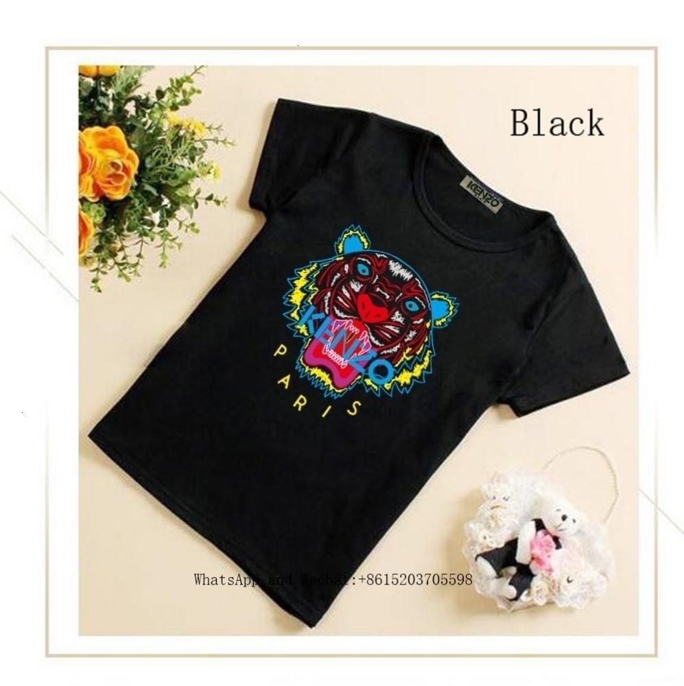 Büyük Çocuk Kısa Kollu erkek tişörtleri tişört 113002 yılında Pamuk Çocuk Saf 2019 Yaz Kız