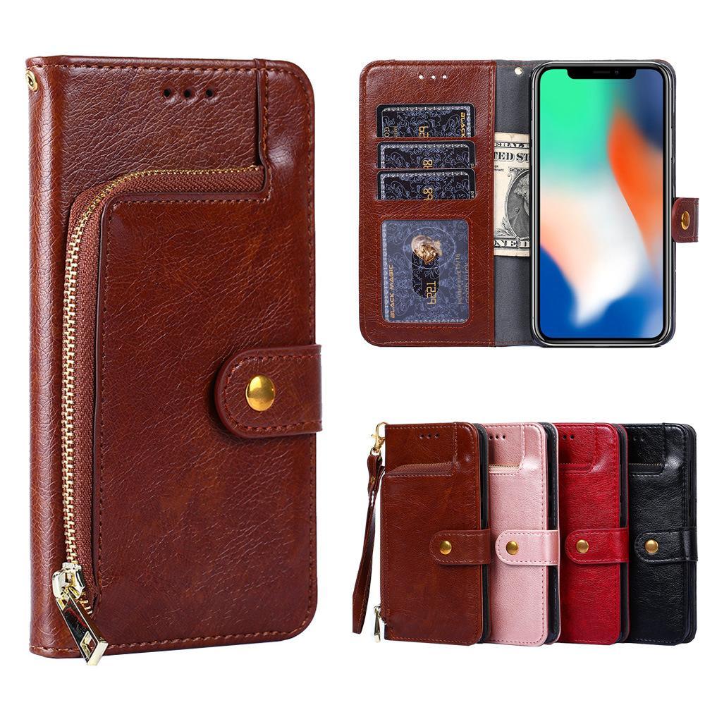 La caja móvil de Iphone de lujo 11 / 11Pro / X / X XR XSMax 7P / 8P 7/8 / 6s / 6 / 6s Plus / 6 Plus Nuevo caso del diseño del teléfono de moda multifuncional