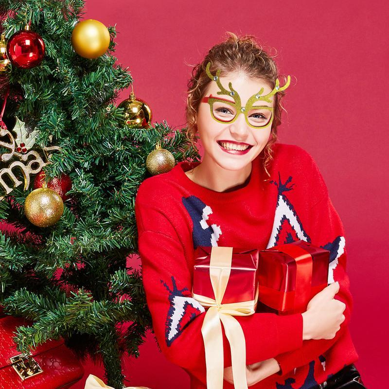عيد الميلاد هدايا عيد الميلاد الحلي نظارات إطارات ديكور مساء حزب الديكور لعبة أطفال ثلج هات كاشيما نمط نويل