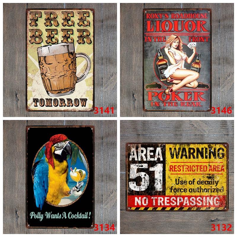 Muestras de la lata de la vendimia la señal de peligro del café barra de metal de la pared del hogar del restaurante Shop decorativo de la motocicleta placa de metal colgantes 30 * 20cm DBC DH2590
