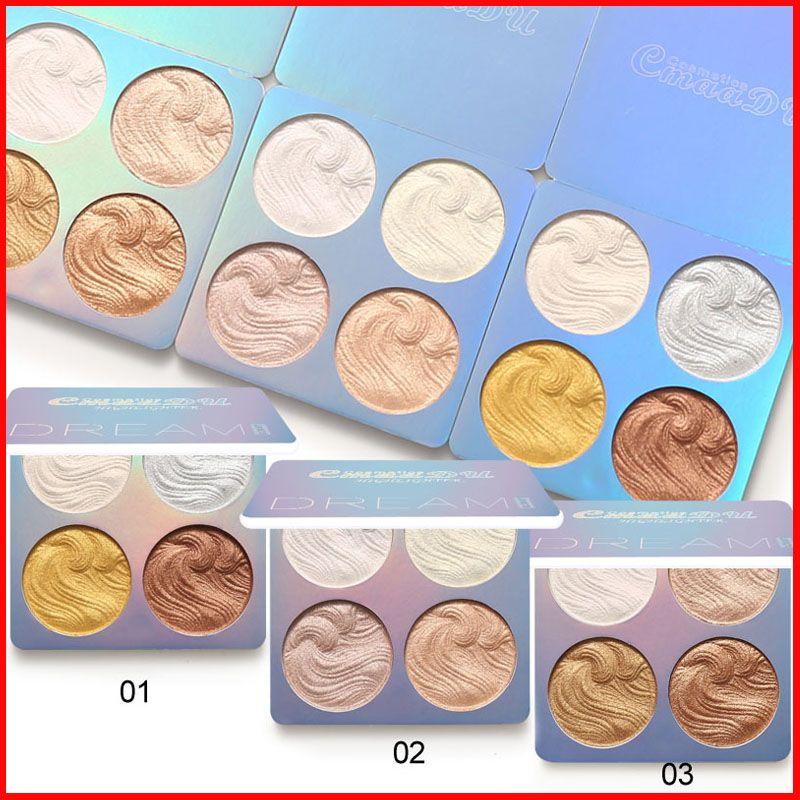 3 stili CmaaDu Face Makeup Evidenziatore Mini Dream High Light Palette Ombretto Evidenziatore Shimmer Glitter Cosmetici 4 colori
