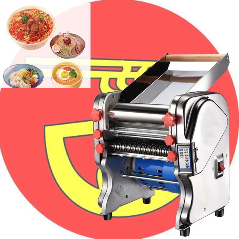 Eléctrica de fideos máquina de la prensa del espagueti fabricante de acero inoxidable comercial Masa cortador de masa hervida del rodillo Fideos Percha