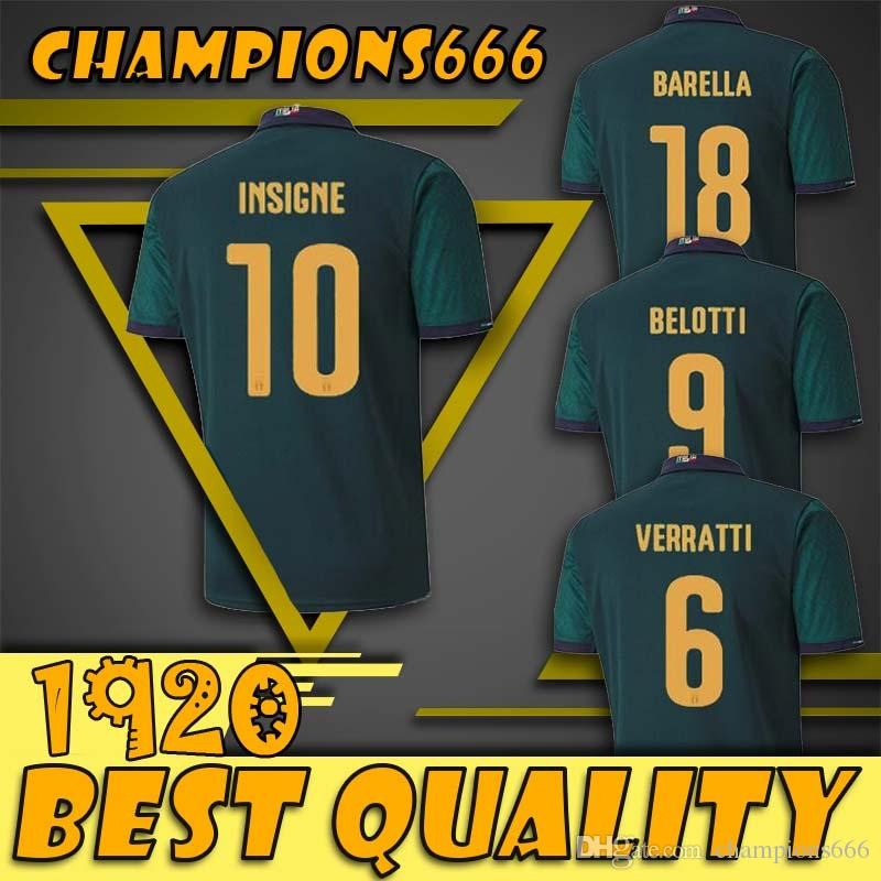 MAN European league 2019 2020 italy third and Germany home soccer jerseys CUP 19 20 Italia maglie da calcio Verratti Jorginho Romagnoli foot