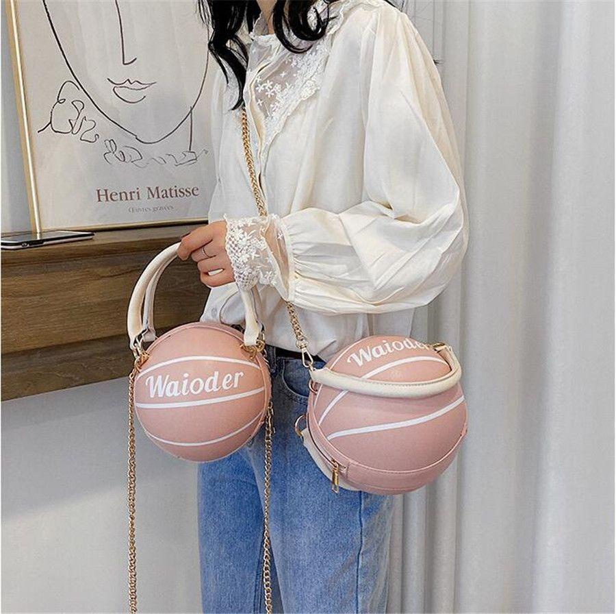 Pallacanestro di lusso Borse Crossbody Borse casuali del cuoio genuino borse a tracolla femminile Tote Nuovo trasporto libero # 46110
