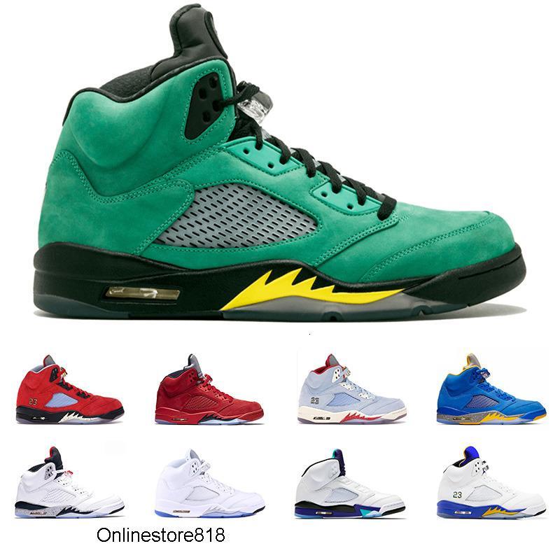 5 Erkekler Basketbol Ayakkabıları 5s Bred Ateş Kırmızı Buz Mavi Laney Mavi Sarı Trophy Odası Erkek Trainer Atletik Spor Sneaker Ucuz Satış