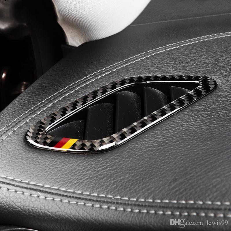 탄소 섬유 대시 보드 에어 아울렛 프레임 자동차 스티커 자동차 스타일링 벤츠에 대한 클래스 2,013에서 2,018 사이 CLA 2,014에서 2,018 사이 GLA 2015년에서 2018년까지