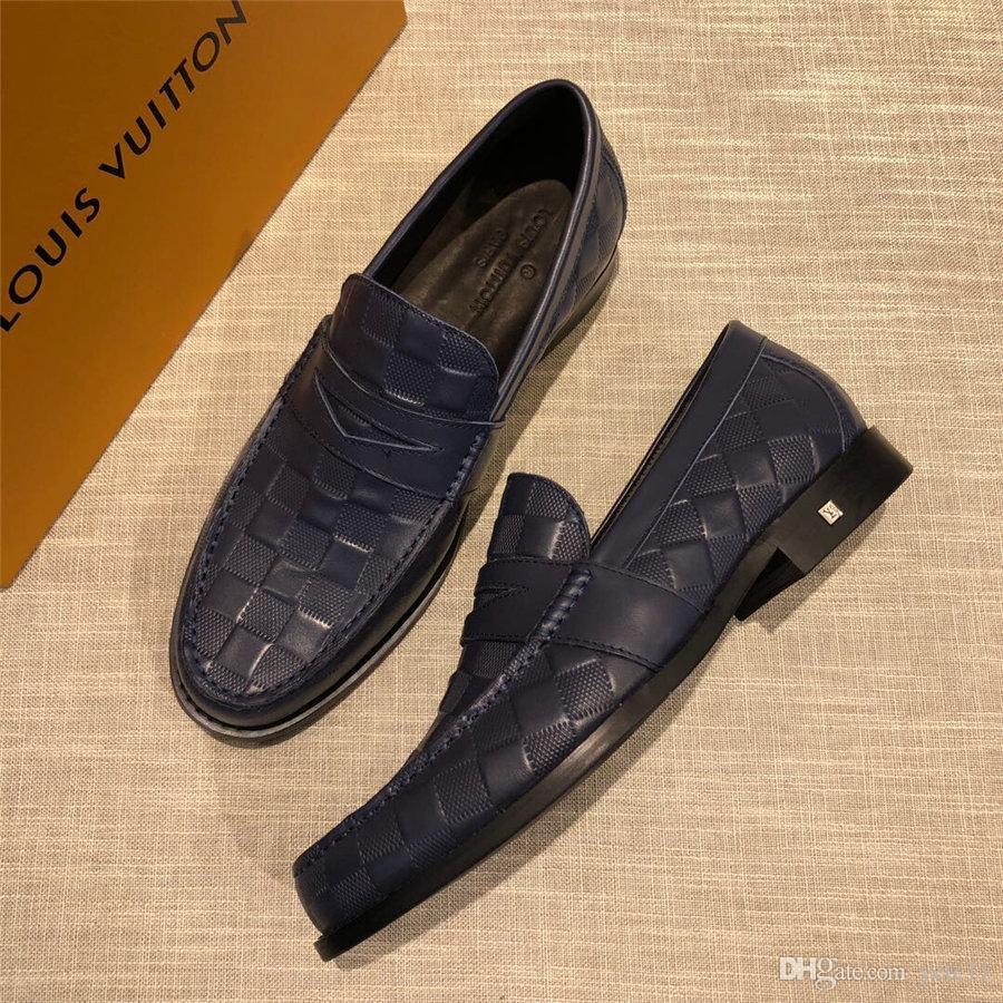 Sapatas do negócio de 2019 Primavera Homens de couro Sapatos Designers Brands Homens para Homens Calçados Pontied Toe Lace-Up Flats Preto Tamanho 45