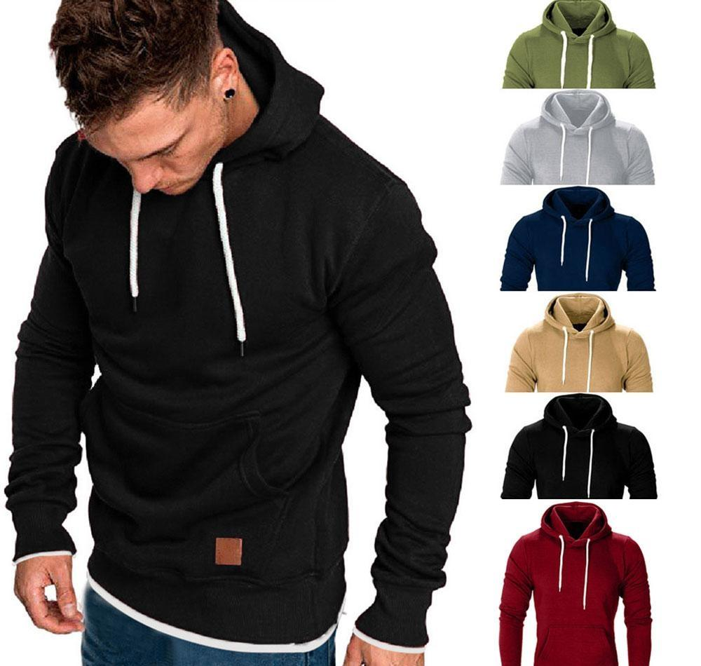 Men/'s Winter Hoodies Slim Fit Hooded Sweatshirt Outwear Sweater Warm Coat Jacket