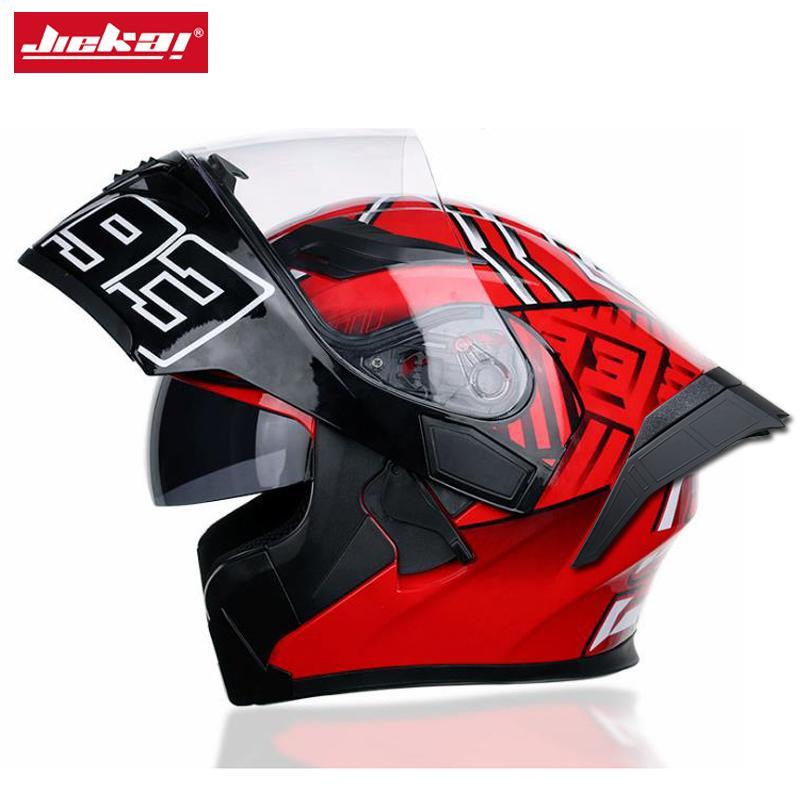 DOT Dual-lens Interior Visor Modular Flip Motorcycle Helmet Capacetes Men's Knight Moto Motocross Helmet,JIEKAI 902