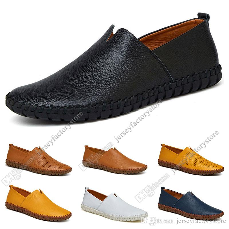 New hot Fashion 38-50 Eur new men's leather men's shoes Candy colors overshoes British casual shoes free shipping Espadrilles sixty-eight