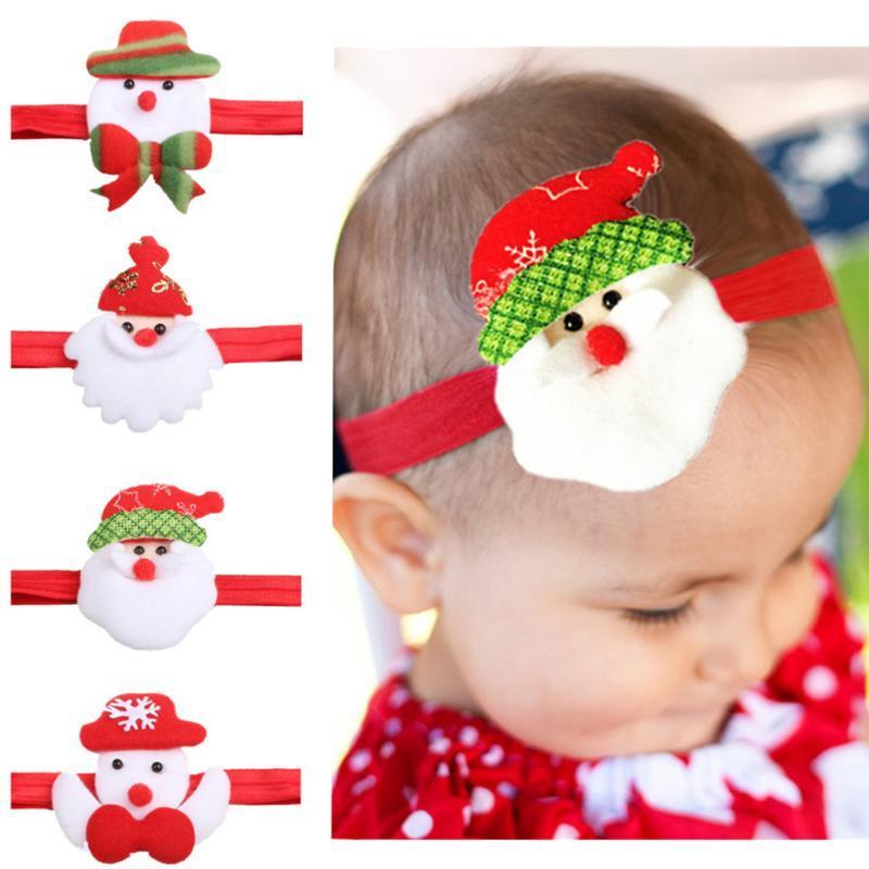 Crianças presente de Natal do feriado do partido dos desenhos animados faixa de cabelo do bebê enfeites de cabelo Acessórios recém-nascido bonito clipes bebê