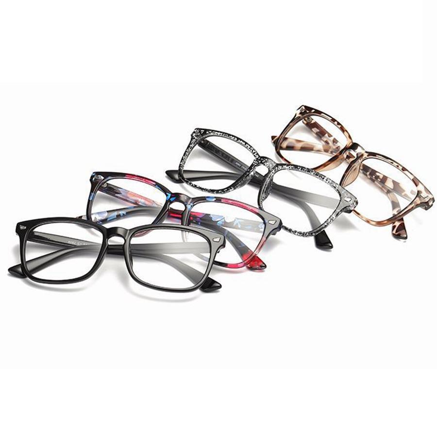 Retro quadrado óculos ópticos clássico quadro completo homens mulheres computador claro óculos óculos unisex lendo óculos ljjt1030-6