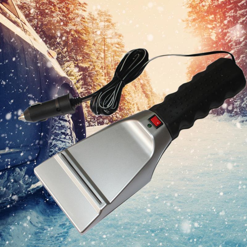 12 فولت الكهربائية ساخنة سيارة مكشطة الجليد إزالة الثلوج مجرفة الزجاج الأمامي تذويب أدوات نظيفة