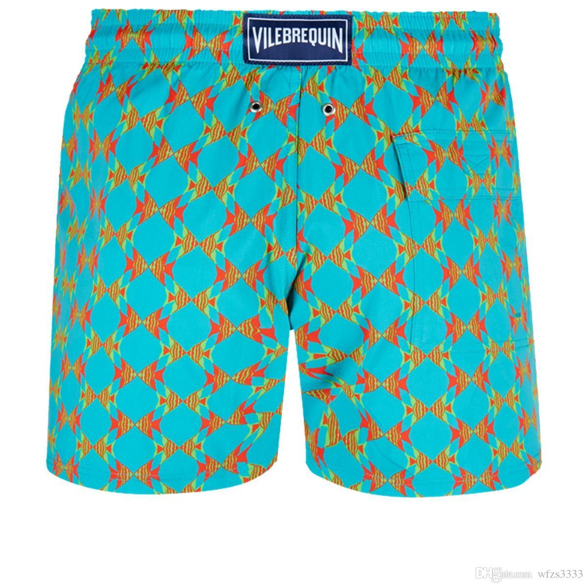 Vilebre MEN SWIMWEAR herringbones TARTARUGAS mais novo Casual Verão Shorts Homens Moda Estilo Mens Shorts bermudas de praia 50279