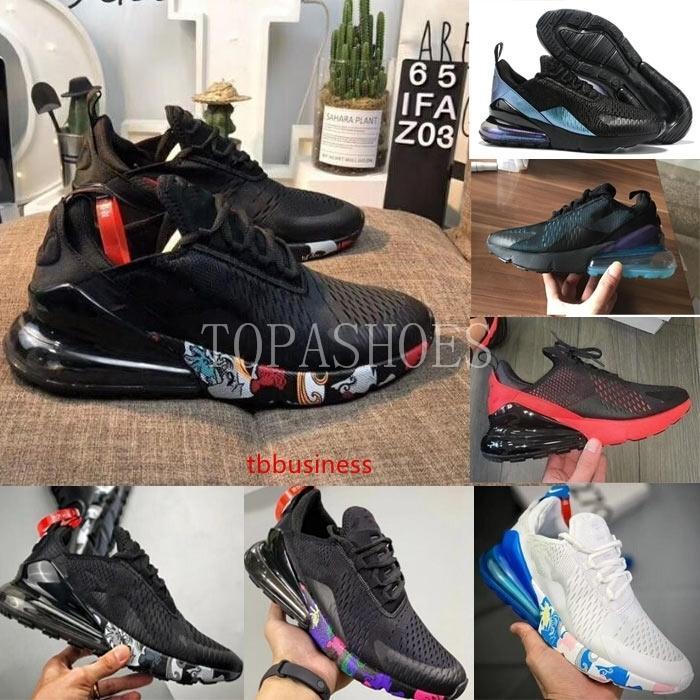 Chaussures de course Triple Noir Blanc profond 2019 Designer Flair fer noir Coussin gris Hommes Femmes sport Formateurs Zapatillas Sneakers