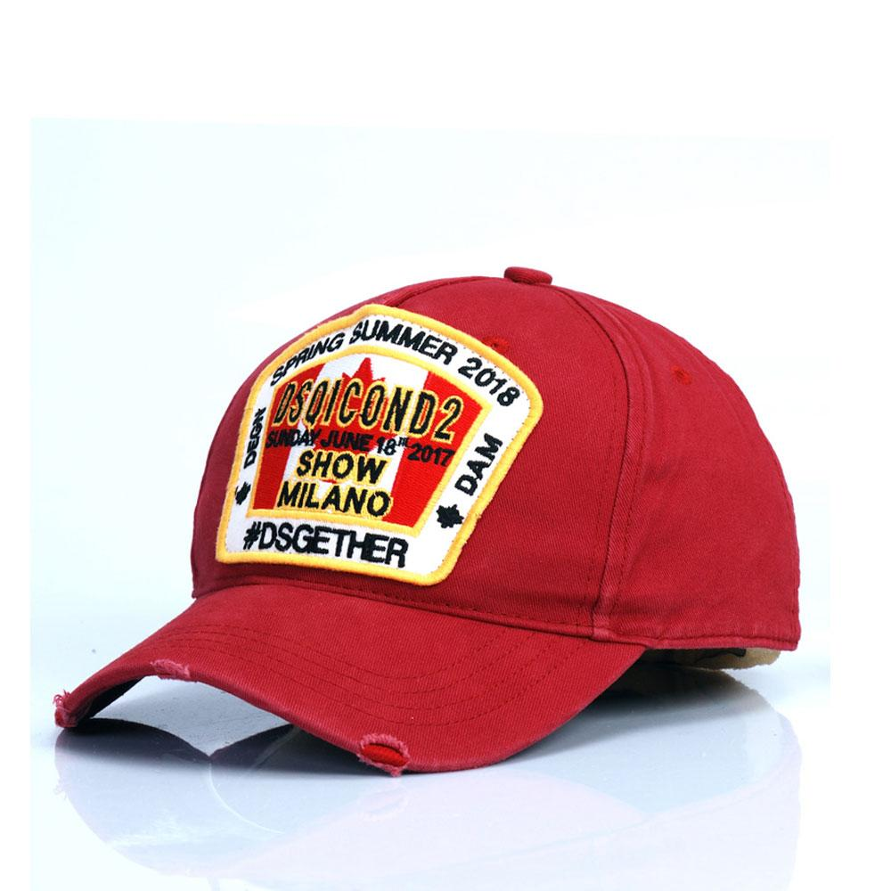 2020 새로운 스타일의 DSQICOND2 자수 모자 모자 남성 여성 남성 야구 모자 골프 gorras 뼈 CASQUETTE D2 모자 D72에 대한 스냅 백 캡