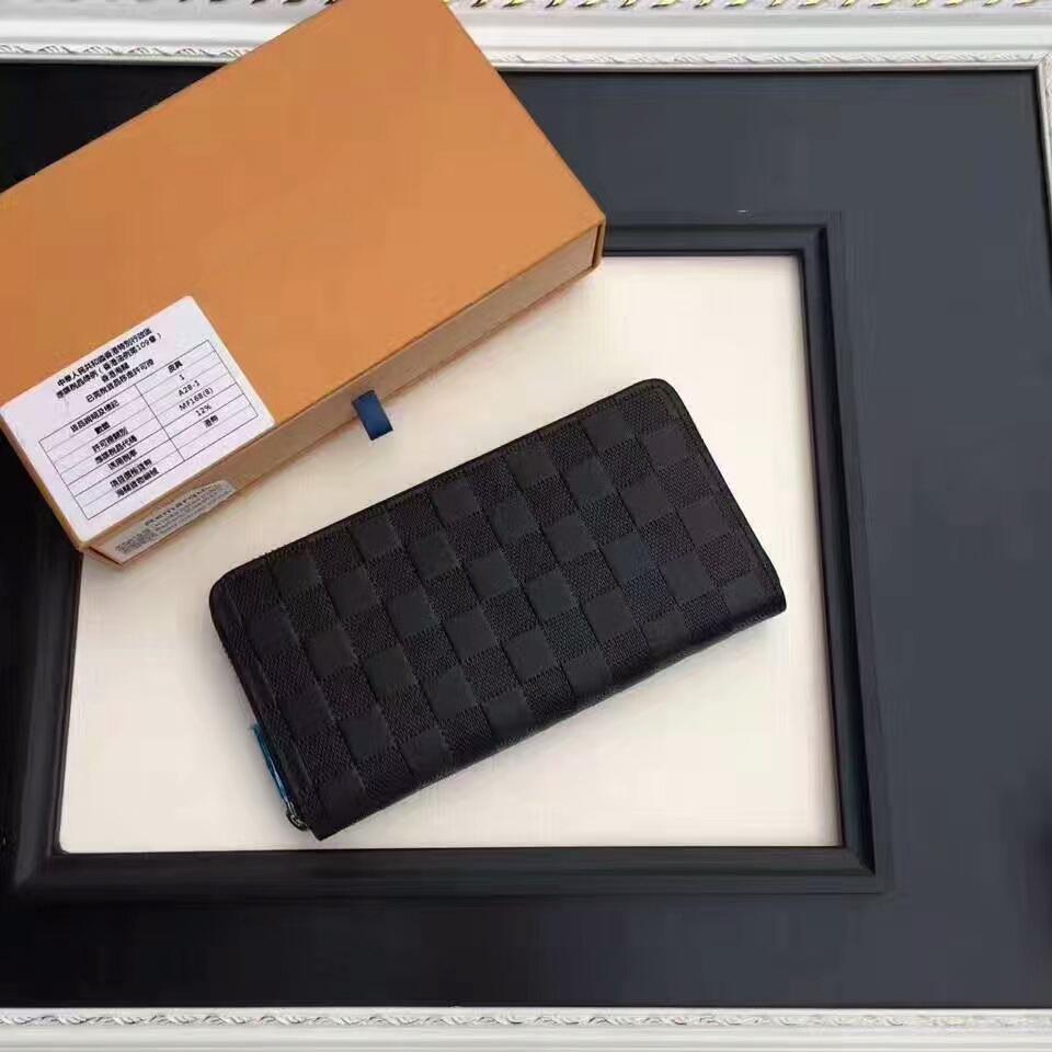 Femmes cuir véritable Portefeuille Long embrayage porte-cartes porte-monnaie C142 avec 60895 Sacs Box Livraison gratuite 19cm