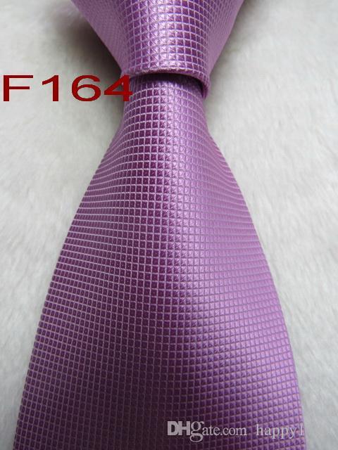 Cravatta cravatta da uomo fatta a mano in jacquard intessuto di seta 100% F164 #