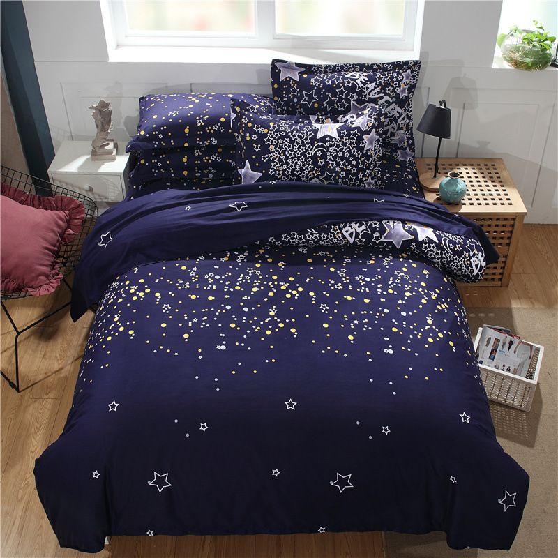 Blue Star Sistemas del lecho dos dobles / 2pcs de la reina / 3pcs Ropa de cama Ropa de cama duvet cover set ninguna hoja sin relleno