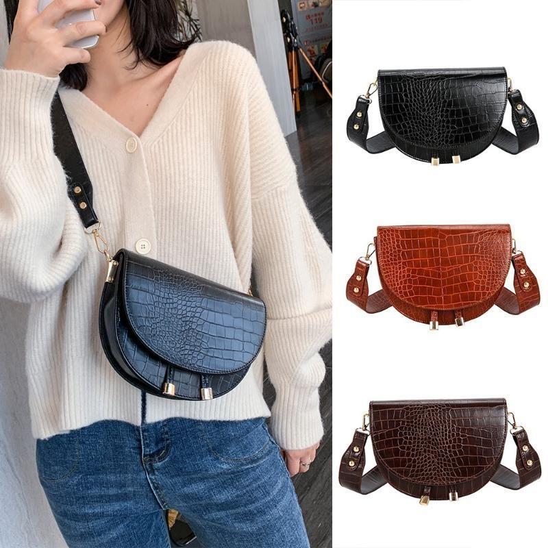 45 # Borse Crossbody per le donne 2020 nuovo modo peluche Satchel casuale selvaggia semplice Shoulder Bag Messenger Sac à main Femme Nuovo