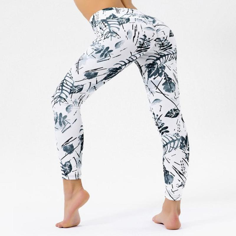High Quality Women Slim-fit Fitness Leggings Female High Waist Yoga Pants Elastic Digital Printing Hip Sex Fitness Sport Jegging
