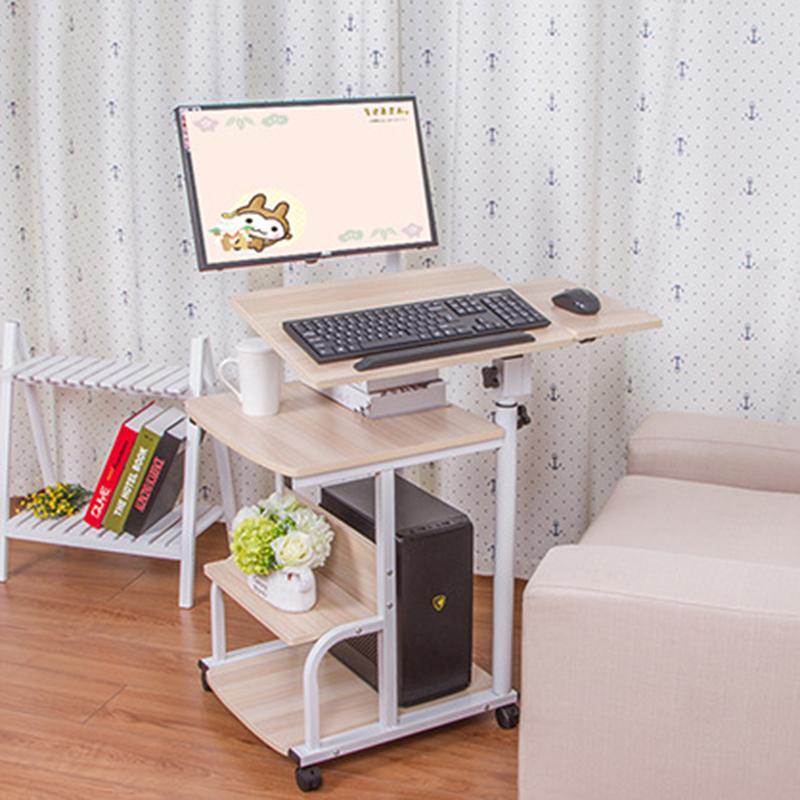 Europäische Laptop-Tisch Multifunktionales Hanging Desktop-Computer Desk Startseite Nahtlose Nachttisch Kreative Rotating Laptop-Schreibtisch