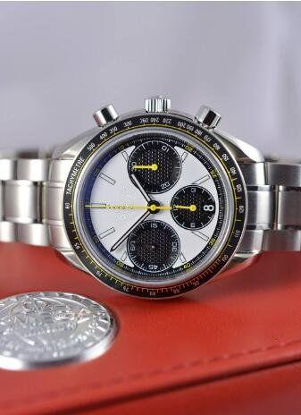 Adam için sıcak satış lüks İzle paslanmaz çelik beyaz yüz kuvars kronometre chronograph saatler 380