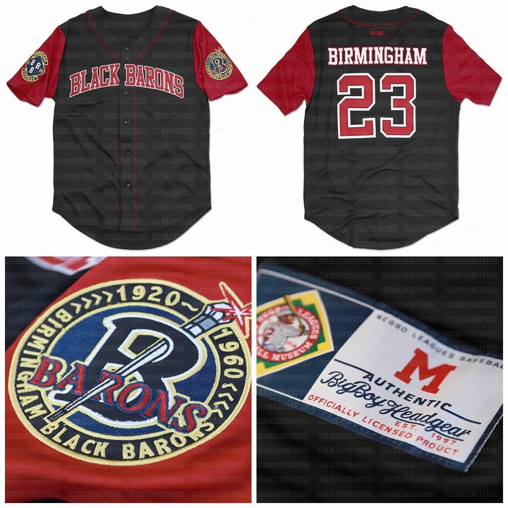 Big Boy Бирмингем Black бароны Пользовательские NLBM Негро Лиги Бейсбол Джерси Stiched Имя Stiched Номер Быстрая доставка