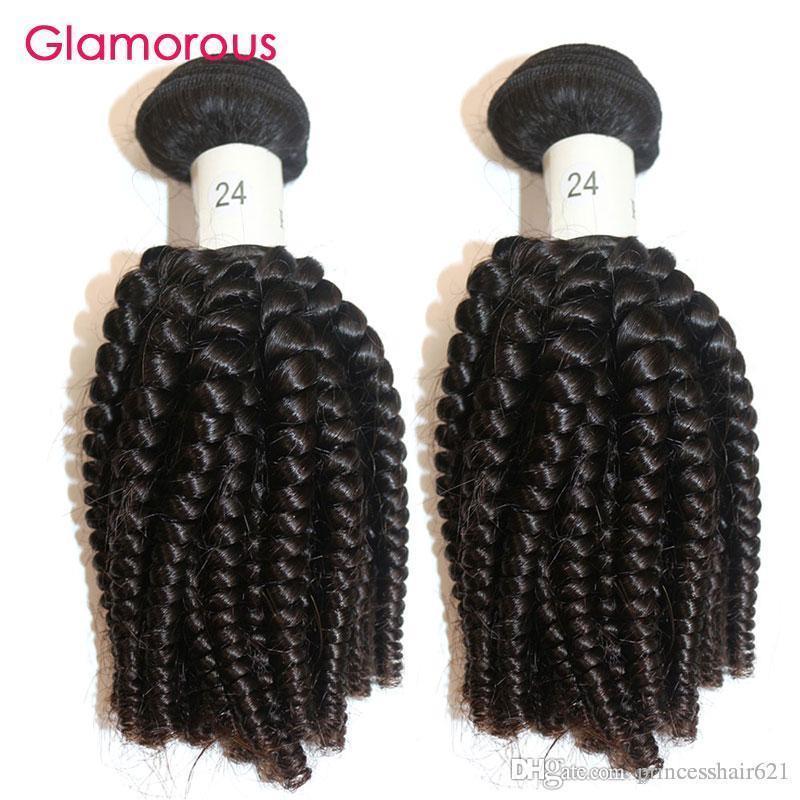 Capelli Glamorous 2 pezzi Virgin brasiliano umani tesse peruviano indiano malese spirale Capelli ricci estensioni Africa popolare di stile Remy trama dei capelli