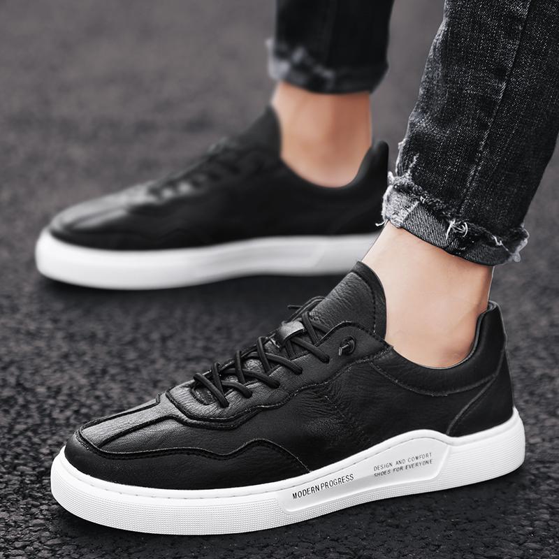 KATESEN erkekler yeni Erkekler Gerçek Deri ayakkabı adam mokasenlerimi nedensel ayakkabı İngiliz elbise bağcıklı erkek eğlence sneakers