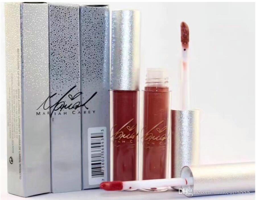 Free Shipping New Makeup Lips Silver Box Matte Liquid Lipstick Non-Stick Cup Lip Gloss!(12Pieces/Lot)