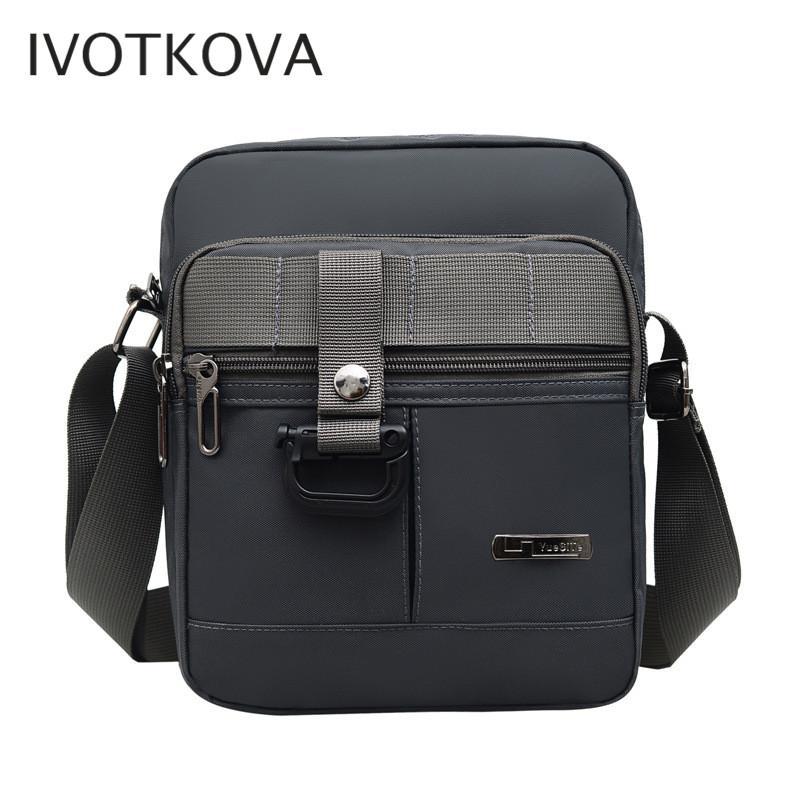 Ombro Crossbody Bag Multi-função Homens Bolsas de Grande Capacidade de IVOTKOVA New Man Nylon saco de viagem Homem