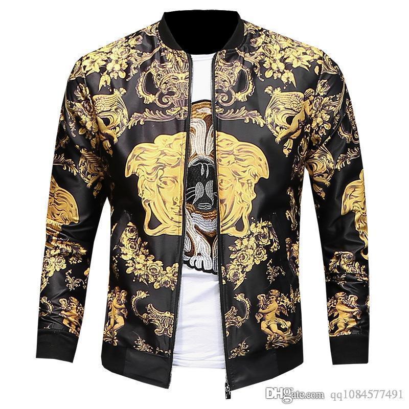 2019 осень рубашка ветрозащитный отворот с цветочным принтом молния контрастного цвета тонкая куртка дизайнерские куртки дизайнерская одежда плюс