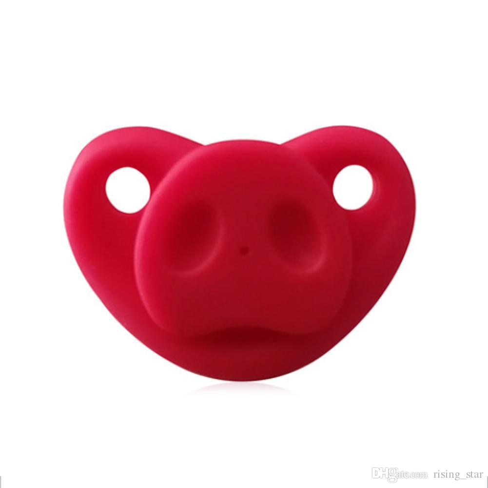 Baby Pig Nose Design Pacifier Funny Nipple Teether Soother Orthodontic Teat  DP