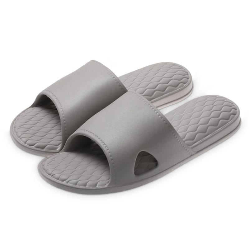Hommes Pantoufles Hommes d'intérieur Chaussures de bain solides chaussons Casual Tongs antidérapante Diapositives été Sandales plates Zapatos Hombre