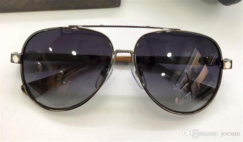 Novos homens desing óculos de sol Pai óculos de sol piloto quadro de metal revestimento de alta qualidade óculos de óculos de proteção UV400 lente.