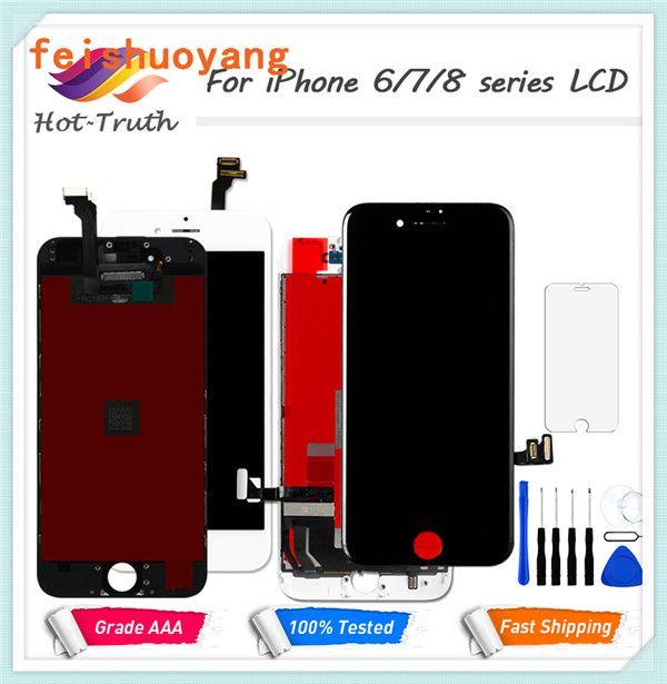 Pour iPhone 7 pour iPhone 7 plus Affichage à l'écran LCD pour Tianma Qaulity tactile Digitizer avec Plein cadre de l'Assemblée Pièces de rechange