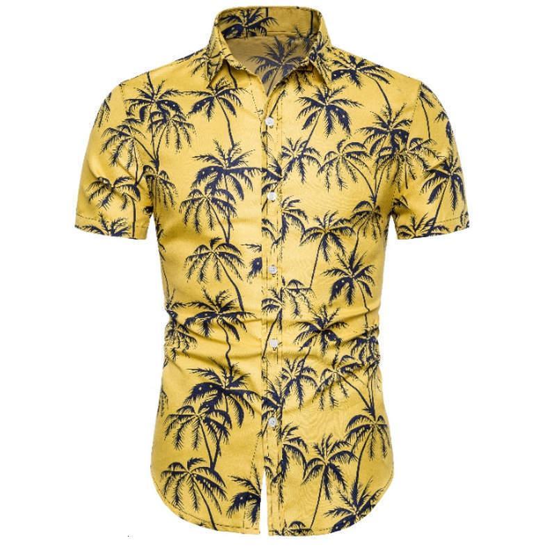 ocasional saia manga da camisa praia shirt dos homens havaianos dos homens gratuitamente