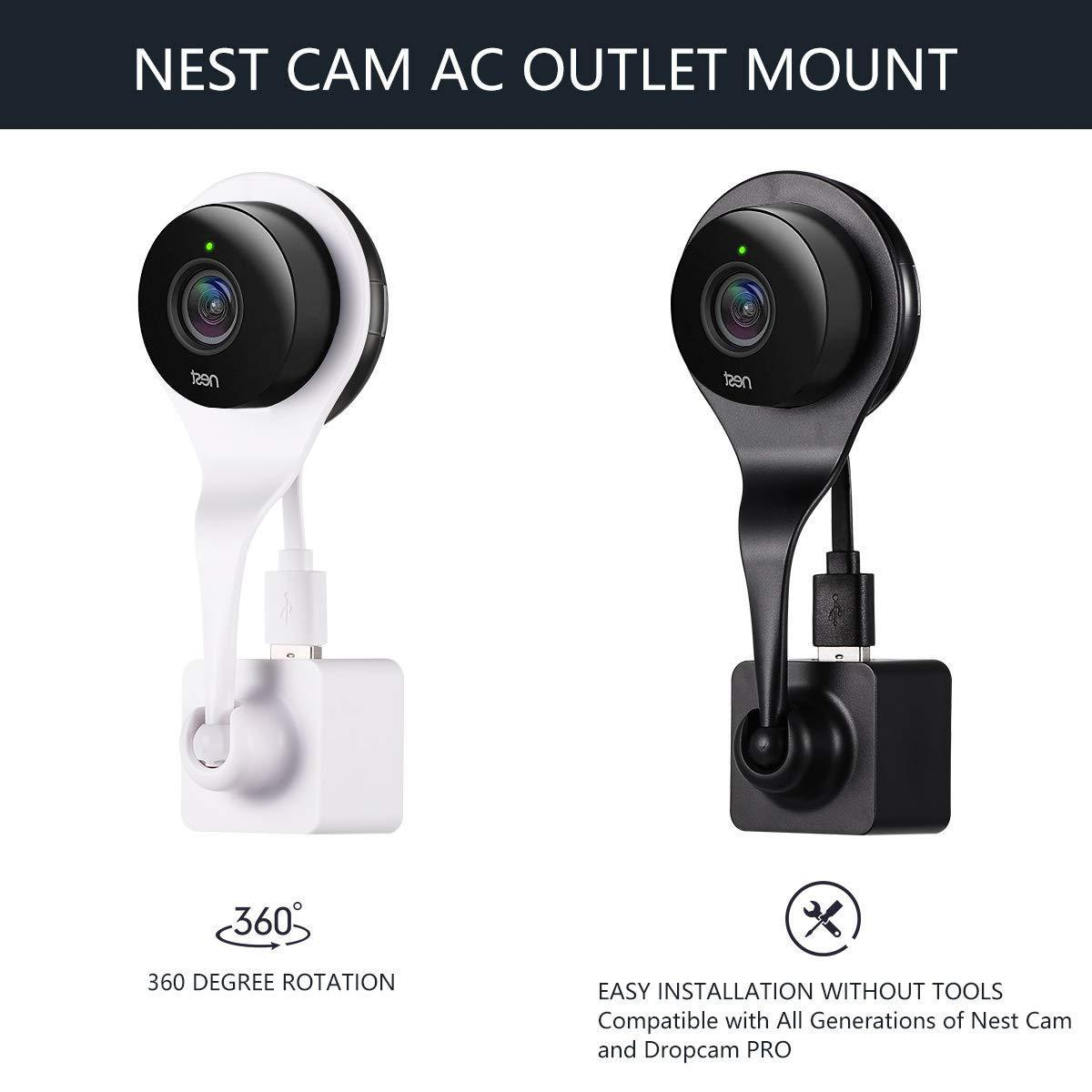 AC Outlet Wall Mount Bracket Stand Holder For Nest Cam Indoor Security Camera
