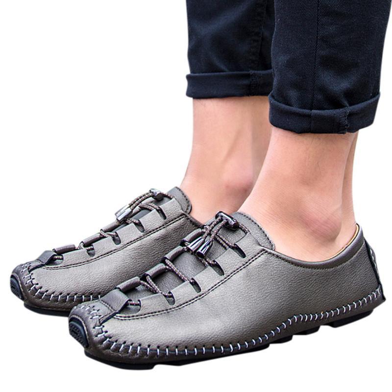 KANCOOLD кожа повседневная обувь мужская мода Lace-Up Wild обувь Мужчины British Wind Бизнес удобные случайные люди Size39-44