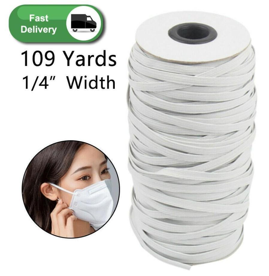 109 Yards Length DIY Braided Elastic Band Cord Knit Band Sewing Widely used for masks 3 mm 4 mm 5 mm FY7005