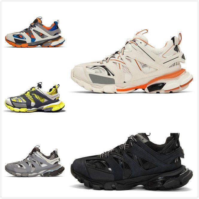 Balenciaga Shoes Hochwertige Art und Weise Triple S Track-Trainer Männer sports laufende Designer Clunky Turnschuhe schwarz orange Damen zu Fuß Paris dir