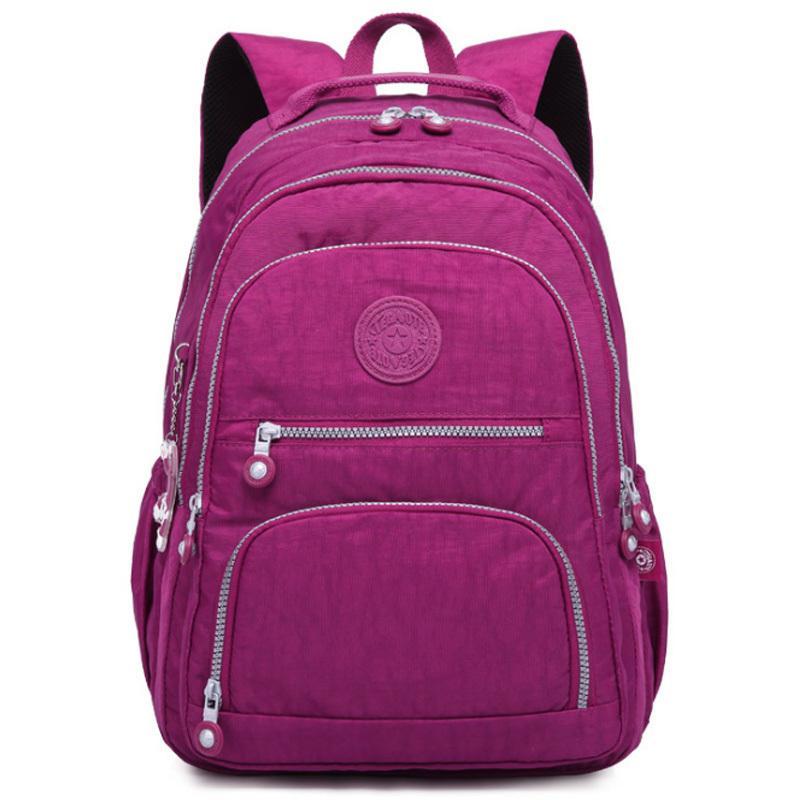 Women Backpack School Bag For Teenage Girls Mochila Feminina Backpacks Large Female Travel Laptop Bagpack High Quality Sac A Dos Y19061102