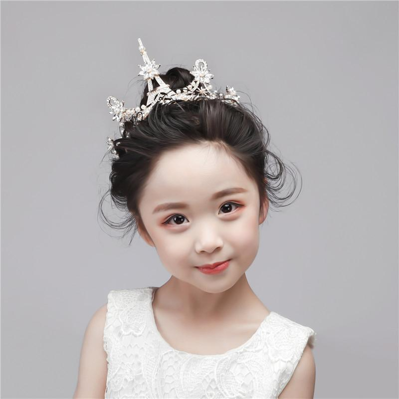 Crown Princess Crystal Hair Band Accessories Girls Headband Unique 1PC Rhinestone Baby Diamond Kid High Quality